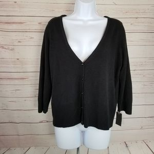 NWT Mossimo Women's XXL Black Stretch Cardigan